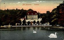 Bad Nauheim Hessen Wetteraukreis AK 1917 Teichhaus Lokal nach Treysa gelaufen