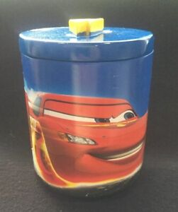 Disney Cars Cotton Jar Swab Trinket Dresser Container Bathroom Kids McQueen