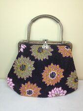 Beaded Handbag Purse Floral Multi Color