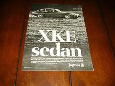 1969 JAGUAR XKE SEDAN ***ORIGINAL VINTAGE AD***