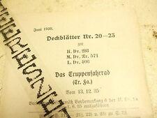 Tropas bicicleta HDV 293 Wehrmacht TR. fa. Wehrmacht bicicleta portadas 20-23 1939