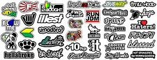 JDM 35 CAR STICKER DECAL MEGA PACK LOT TUNER LOW FUNNY JDM BOOST (MegaOS)