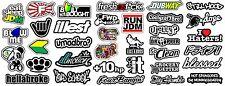 JDM 35 CAR STICKER DECAL MEGA PACK LOT TUNER LOW FUNNY JDM BOOST (MegaOS)