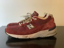 New Balance 991 M991CO Shoes Burgundy Suede Men's 9.5 D Made In USA Maroon