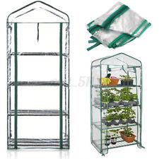 3 4 5 Tier Mini Greenhouse Grow Green House PVC Cover Plastic Garden *Cove r#
