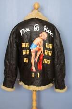Vtg B-3 Miss B Haven Sheepskin Leather Flight Winter Jacket Size XL