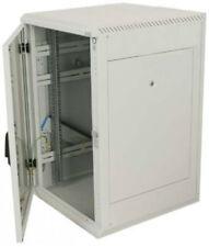 19 Zoll Rack Netzwerkschrank Serverschrank 18 HE - BxT 600 x 600 mm - lichtgrau