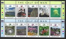 ISLE OF MAN 2021 CALF OF MAN SET OF 10 MARGINALS UNMOUNTED MINT, MNH