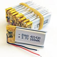10pcs 3.7V 160mAh Lipo Rechargeable Battery for MP3 DVD PSP GPS bluetooth 401430