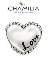 VGC Genuine CHAMILIA 925 sterling silver I LOVE YOU heart charm bead