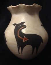 Mildred Antonio Signed Acoma Native American Indian Pottery Vase 4.5""