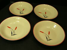 """LOT of 4 UNIVERSAL POTTERIES CATTAIL 5 1/4"""" BERRY / SHERBET BOWLS"""