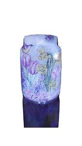 Unique Decoupage Beautifal Floral Vase , Shabby Chic/  Handmade/ LED LIGHT Lamp