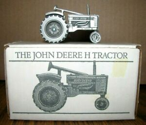 *1939 John Deere H Two Cylinder Pewter Tractor 1/43 Spec Cast Toy JDM-005 NF jd