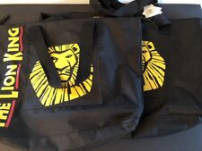 Two The Lion King Tote Bags Broadway Musical Official Disney Large Black NWT New