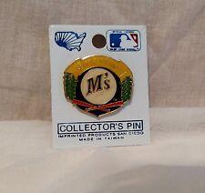 Seattle Mariners MLB Wreath Logo w Baseball and Crossed Bats Lapel Hat Pin