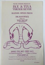 Ike And Tina Turner Revue At The Rose Palace Pasadena 7/4-5/1969 Handbill