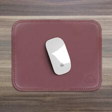 Tappetino Mouse Pad Scrivania Ufficio Cuoio Rosso Bordeaux Angoli Arrotondati