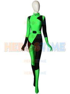 2019 Newset Shego Kim Possible Super Villain Spandex Cosplay Halloween Costume