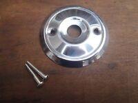 A REPLACEMENT STAINLESS STEEL DOOR KNOB BACK PLATE 53 mm DIAMETER RIM LOCK ETC.