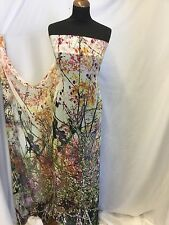 "NEW Designer Forest Chiffon Print Fabric 58"" 149cm High Society Dress Dolce She1"