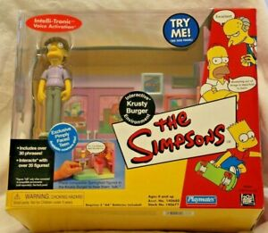 Simpsons Playmates Krusty Burger Interactive Environment w Pimply Faced Teen