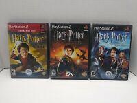 PS2 Lot Harry Potter Chamber of Secrets, Prisoner of Azkaban, Goblet of Fire CIB