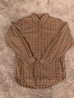 Cherokee Plaid Flannel Button Down Long Sleeve Shirt Mens Size Medium