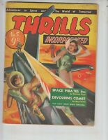 Thrills Incorporated 5 VG (4.0) 1950s Australian scifi mag! Very Cool!