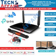 Modem Router SIM 4G naviga e chiama RJ11 VoLTE VoIP CSFB WiFi 300Mbps Tp-Link