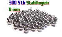Stahlkugeln 300 x 8mm für Steinschleuder Zwille Slingshot Pocket shot Munition