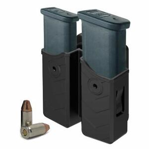 Dual magazine holder for single or double stack mags. 9mm,10mm,40, 45 ACP