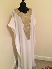 Dubai Abaya Jalabiya Kaftan Farasha Gold Diamante Maternity Summer Wedding Eid