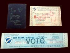 NACIONAL de MONTEVIDEO Soccer card + tickets 1960's