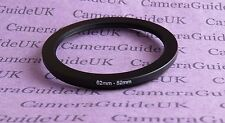 62mm to 52mm Male-Female Stepping Step Down Filter Ring Adapter 62-52 UK