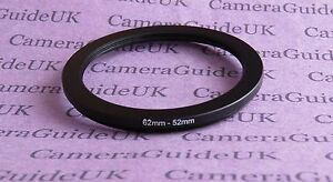 62mm to 52mm Male-Female Stepping Step Down Filter Ring Adapter 62-52