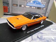 DODGE Challenger R/T 426 Hemi V8 Muscle Car 1970 orange spark Resin 1:43