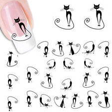 Fashion Cat Nail Sticker Art Water Transfer Decals Manicure Wrap Decoration Tool