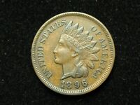 SEMI-ANNUAL SALE!! XF 1896 INDIAN HEAD CENT PENNY w/DIAMONDS & FULL LIBERTY #48c