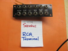 SANSUI RCA TERMINAL BANK 12P WITH LETTERING TR-707A STEREO RECEIVER