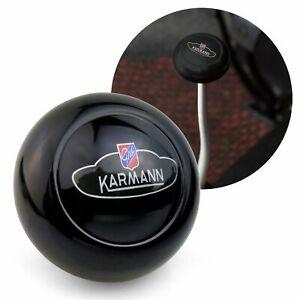 Karmann Ghia Crest Black Gear Shift Knob M12 M7 for Volkswagen Sedan & Vert