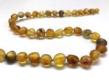 Genuine Natural Baltic Amber unpolished beads necklace 18g. Bernstein 琥珀色  #1016
