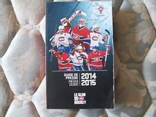 2014-15 MONTREAL CANADIENS MEDIA GUIDE Yearbook Press Book Program NHL 2015 AD