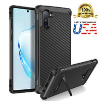 For Galaxy Note 10/9/8 Case Carbon Fiber Slim Hybrid Kickstand Absorbing Cover