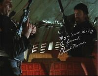 CHUCK NORRIS 'The Delta Force' Signed Autographed 11x14 Photo B