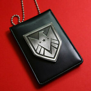 The Avengers Agents Of S.H.I.E.L.D Shield Badge Card Id Holder With Chain