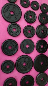Weights Plates cast iron 25 kg for bench press dumbbells gym barbell 5 10 20
