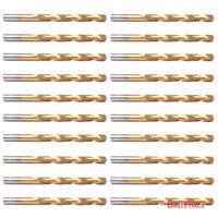 """20PCS 3/32"""" Drill Bit Set HSS Titanium Jobber Length Twist Metal Drill Bits Tool"""