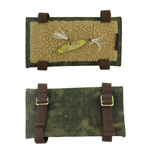 Tourbon Fly Fishing Lure Cover Hook Holder Jigs Dry Pouch Soft Padded Belt Patch
