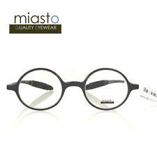 ca4efe484e0c TR90 MIASTO FLEXIBLE   LIGHT READER READING GLASSES+1.00 LENNON ROUND  (BLACK)
